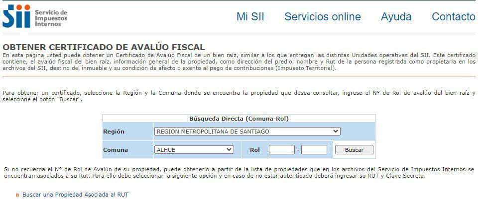 avaluo fiscal